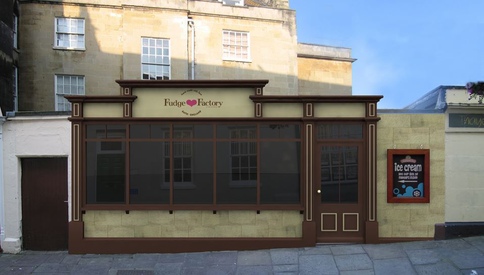 Visualisation for The San Francisco Fudge Factory, Bath