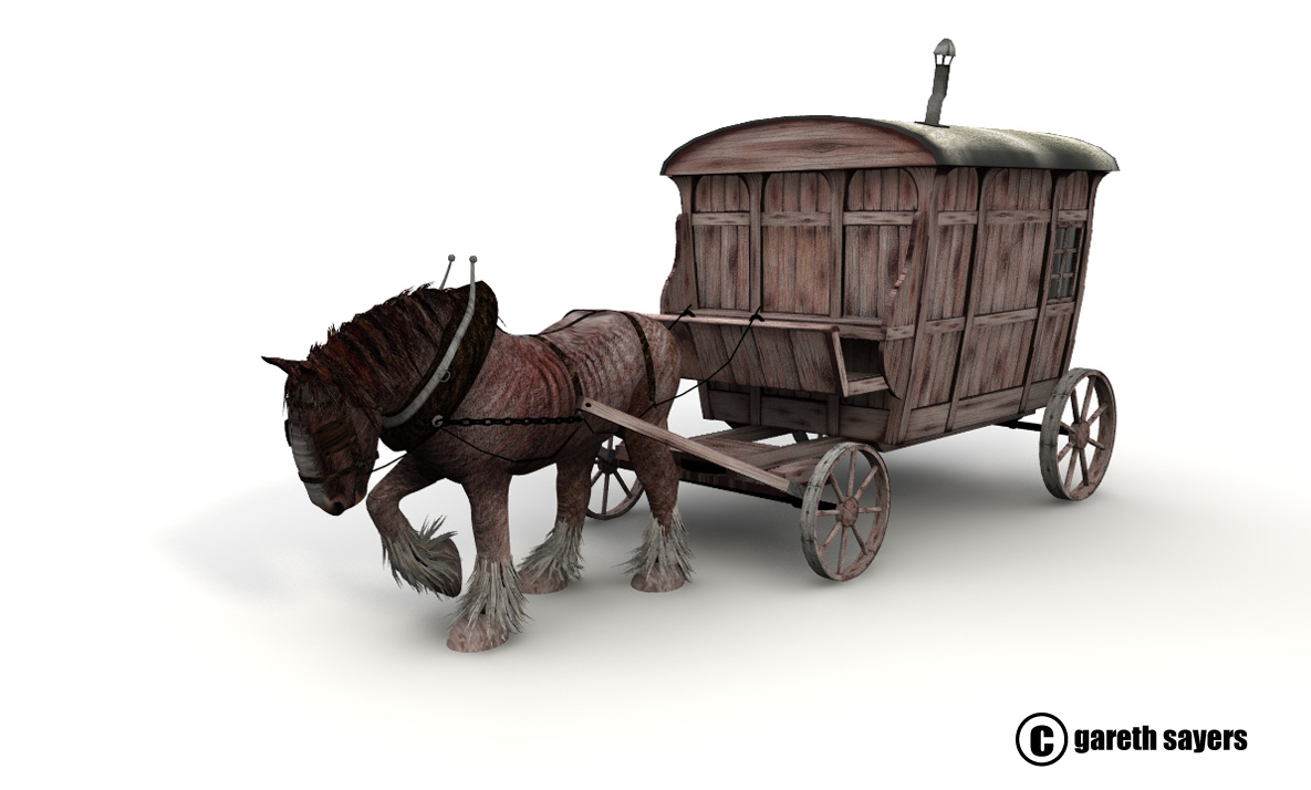 The Resting Place by Gareth Sayers Horse and Wagon Design